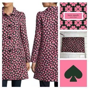 kate spade Rose Coat with Matching Bag NWT